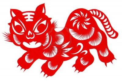 chino-tradicional-artesania-tigre-de-papel-cut