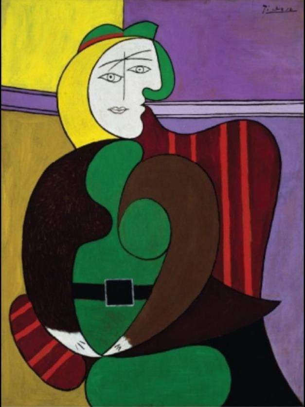 picasso o cadeirao vermelho 1931