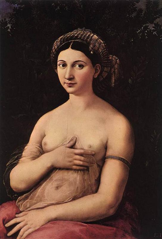 rafael sanzio 1518-19 giovane donna