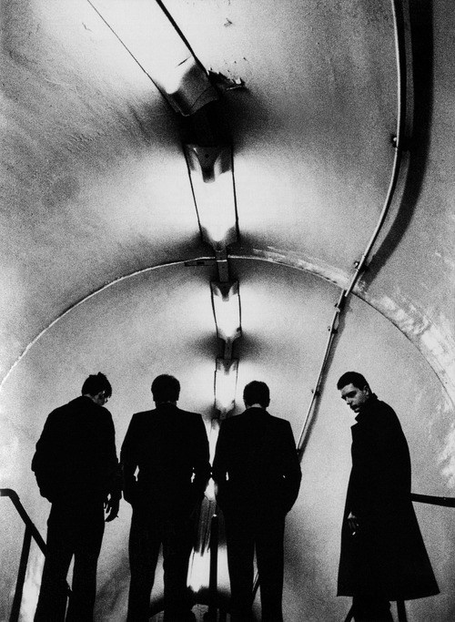 Joy Division, by Anton Corbijn at Lancaster Subway Station, London, 1979